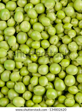 Green Peas background texture vegetable.