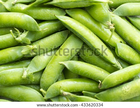 Green peas, fresh food, close up view