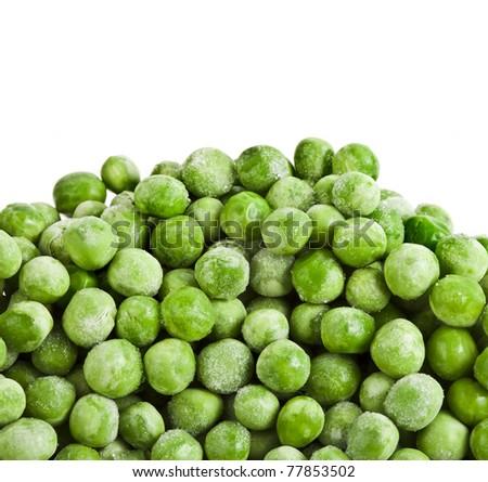green peas isolated - stock photo