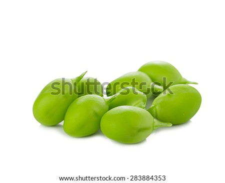 Green peas isolated on a white background