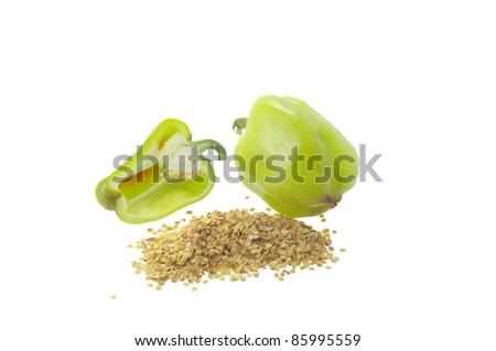 Green pepper - stock photo