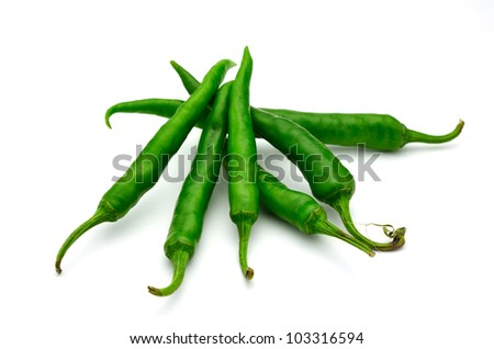 green pepper is isolated on a white background