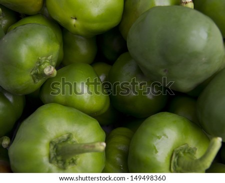 green peppers - stock photo