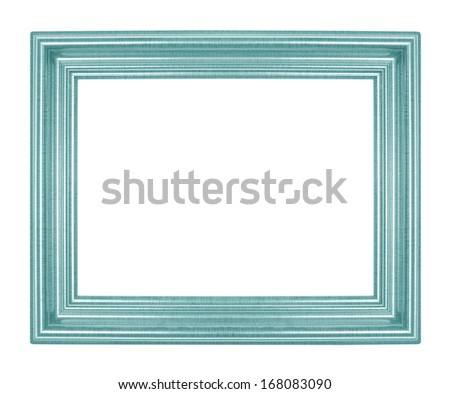 green picture frames. Isolated on white background - stock photo
