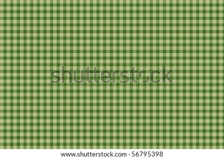 Green plaid gingham background - seamless texture - stock photo