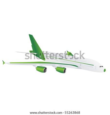 Green plane - stock photo