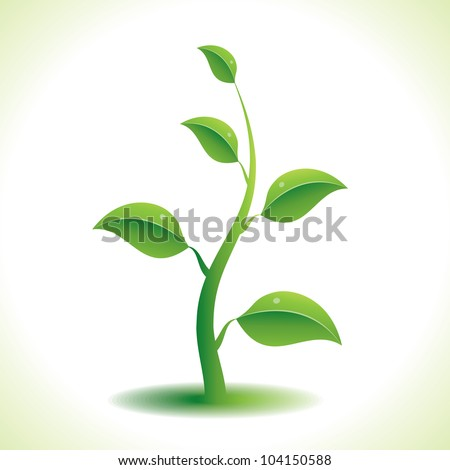 Green plant. Raster version, vector file ID: 100661647
