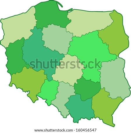 green poland map