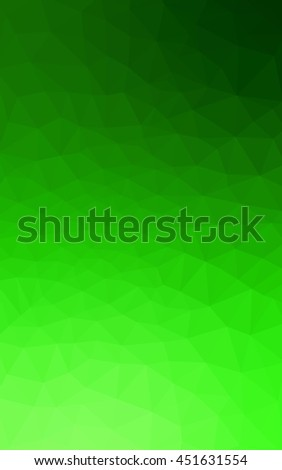 Green polygonal illustration, which consist of triangles. Geometric background in Origami style with gradient. Triangular design for your business.