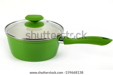 green pot - stock photo