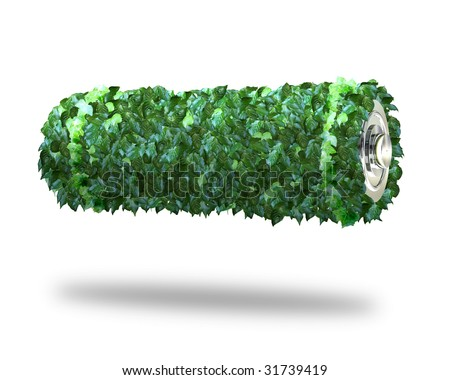 green power battery - stock photo