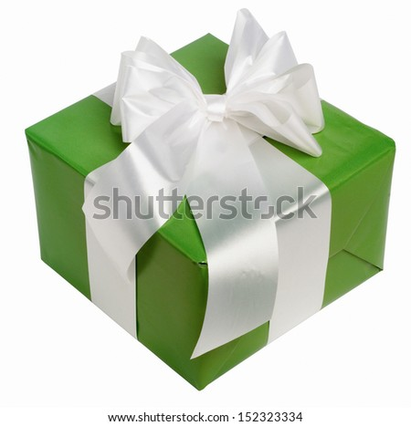 green present box  - stock photo