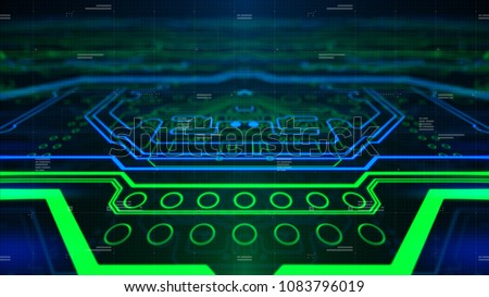 Green Printed Circuit Board Pcb Background Stock Illustration ...
