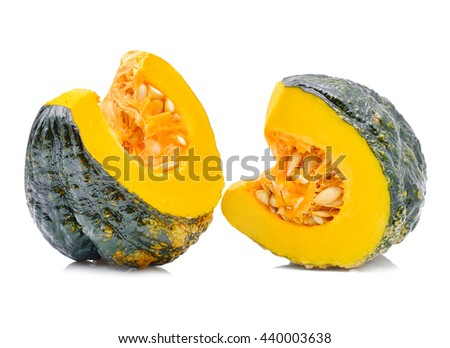 Green pumpkin isolated on white background - stock photo