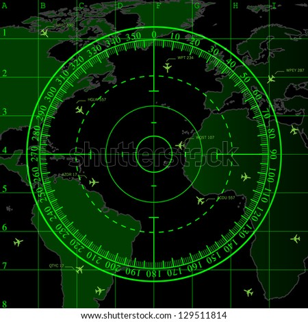 Air Traffic Radar Screen