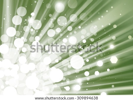 Green ray lights bokeh glitter defocused abstract background - stock photo
