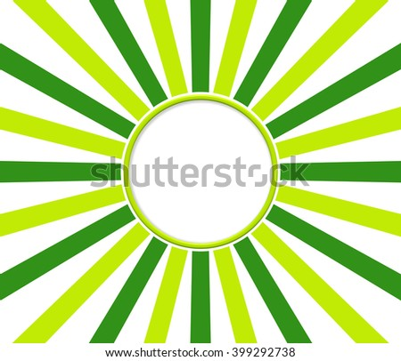 Green rays with white circle for your text