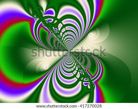 Green red blue abstract fractal background - stock photo