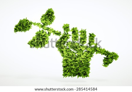 Green revolution sign - stock photo