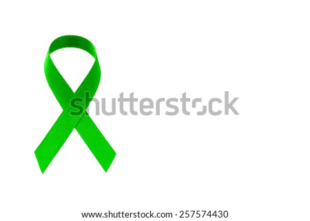 Green  Ribbon - stock photo