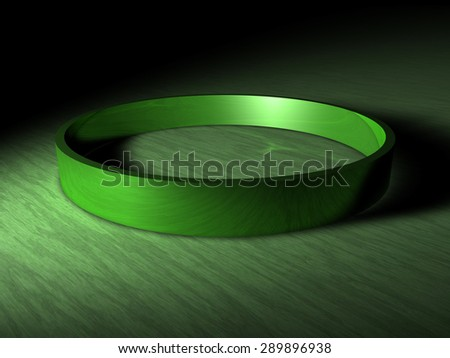 green ring - stock photo