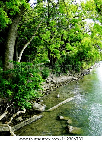 Green River Bank - stock photo