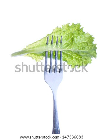 Green Rocket / Roquette salad leaves isolated on white background