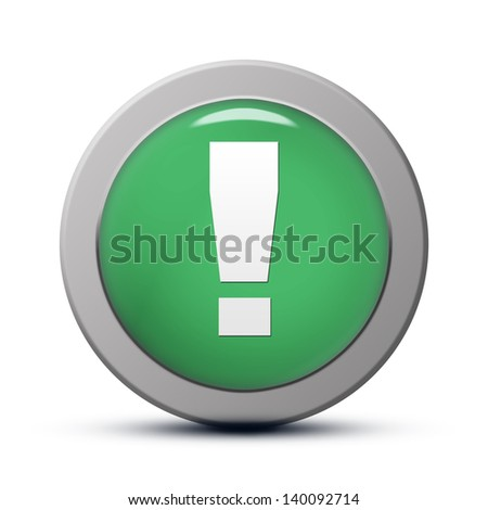 green round Icon series : Warning button
