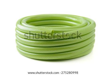 green rubber tube - stock photo