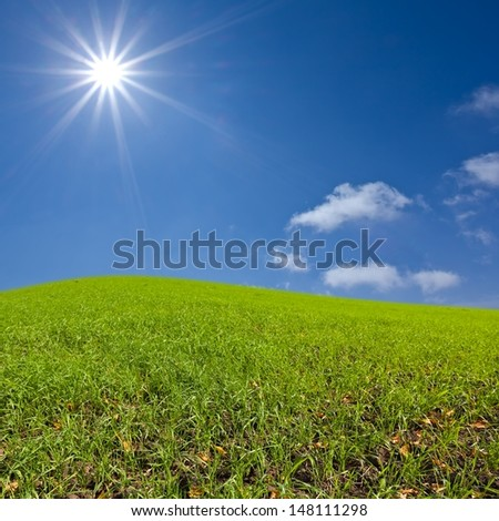 green rural hills - stock photo