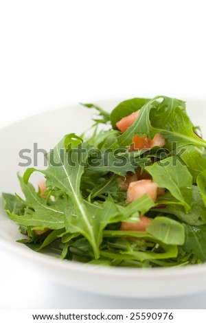 green salad with tomato