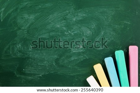 Green school board with copyspace as background - stock photo