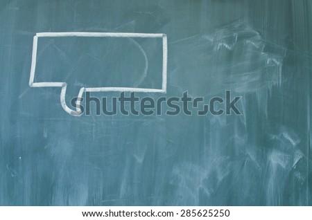 Green school chalkboard - stock photo