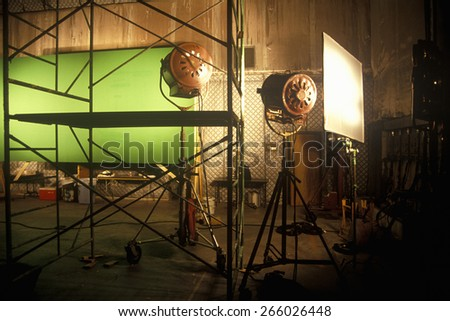 Green screen Scene from set of 'Temptation', feature film, Miami, FL - stock photo