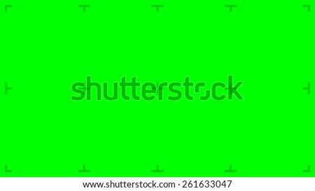 Green Screen with position markers for compositing, 8K FUHD 16:9 original size - anchors are Green value over 200 for easy removal