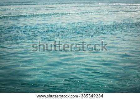 Green sea - stock photo