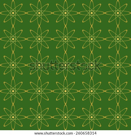 green seamless background with geometric elements  - stock photo