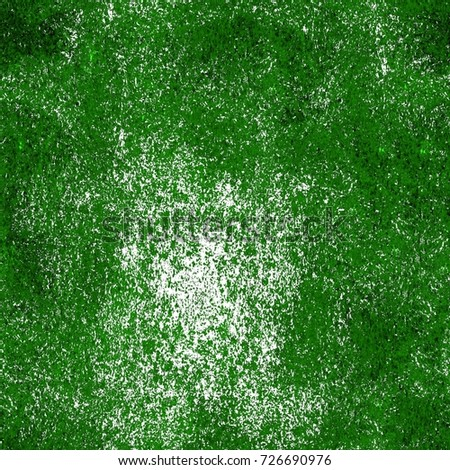 Green Seamless Texture Old Distressed Painted Wall Of Worn Surface Vintage Dirty