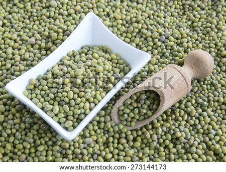 green seed of Mung bean
