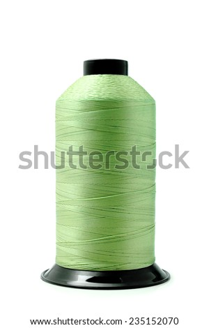 Green shreads isolated on a white background.               - stock photo