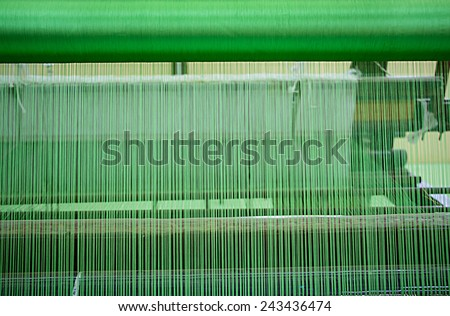 Green Silk Thread Texture Background - stock photo