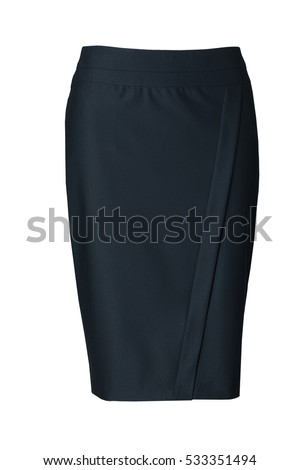 Green skirt i isolated on white background