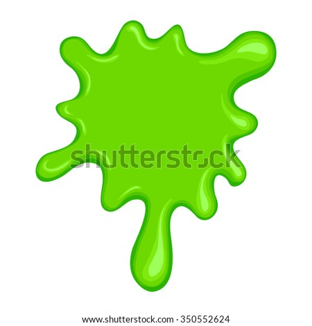 Green slime symbol isolated on a white background - stock photo