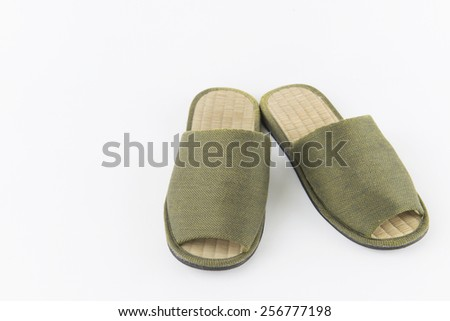 Green Slippers  - stock photo