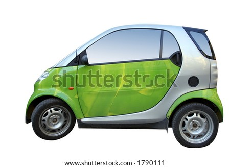 Green smart isolated on white - stock photo
