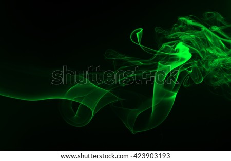 green smoke abstract background, movement of green smoke, smoke background