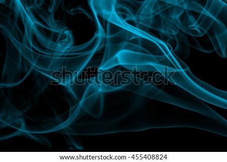 Green Smoke abstract on white background - stock photo