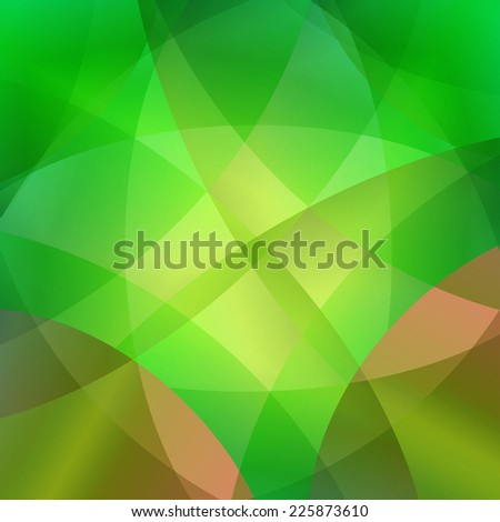 Green smooth twist light lines vector background  - stock photo