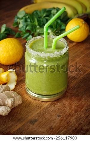 Green Smoothie - stock photo