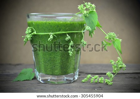 Green smoothie natural diet